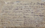 Χειρόγραφη επιστολή στην πίσω πλευρά καρτ-ποστάλ, Νεστόριο 1 Δεκεμβρίου 1923. Αρχείο Δήμου Νεστορίου.