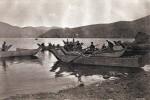 Ψαράδες στη λίμνη.
